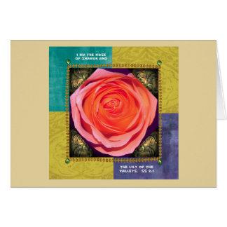 Gruß-Karten-… Rose von Sharon Karte