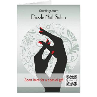 Gruß-Karten-Schablonen-Nagel-Salon Karte