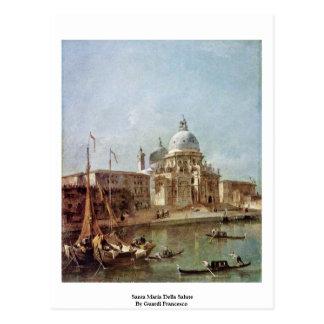 Gruß Santas Maria Della durch Guardi Francesco Postkarte