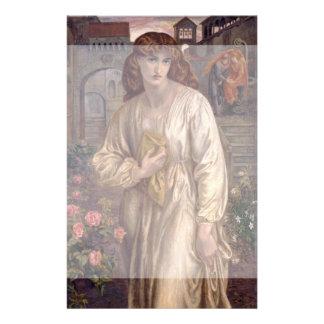 Gruß von Beatrice durch Dante Gabriel Rossetti Flyer