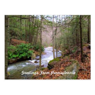 Gruß von Pennsylvania Postkarte