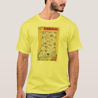 Gruß von Vintagem gelbem T - Shirt Indianas