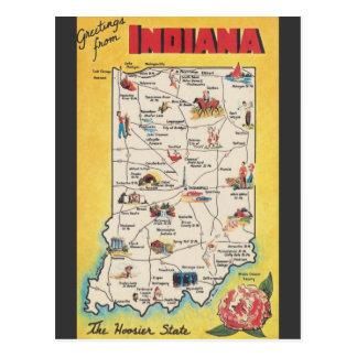 Gruß von Vintager Postkarte Indianas