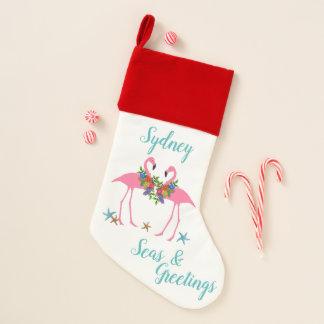 Gruß-WeihnachtsStrumpf der Flamingo-Meern Weihnachtsstrumpf