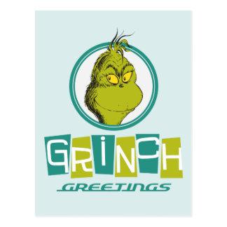 Grüße Dr.-Seuss | Grinch Postkarte