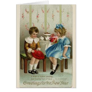 Grüße für das neue Jahr, Karte