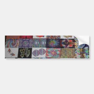 GRÜSSE Kunst-Collage Autoaufkleber
