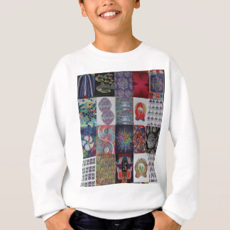 GRÜSSE Kunst-Collage Sweatshirt
