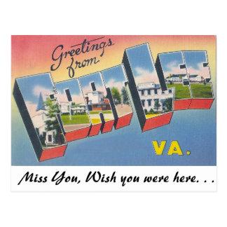 Grüße vom Fort-Lee, Virginia Postkarte