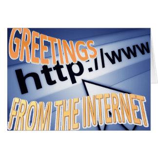 Grüße vom Internet Karte