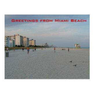 Grüße vom Miami Beach Postkarten