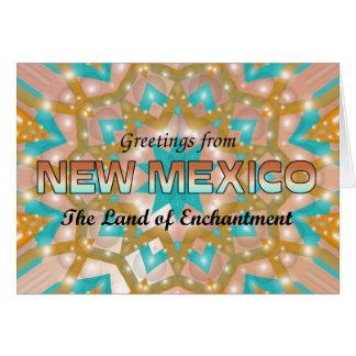 Grüße vom New Mexiko Karte