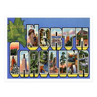 Grüße vom North Carolina Postkarte
