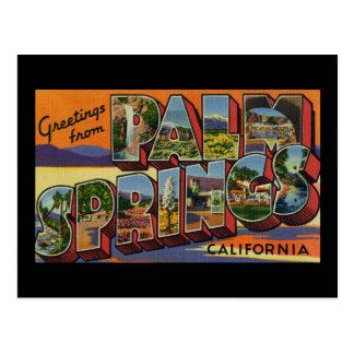 Grüße vom Palm Springs Kalifornien Postkarte