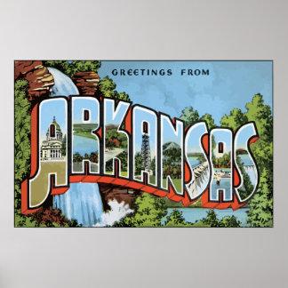 Grüße von Arkansas, Vintag Poster