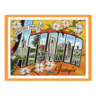 Grüße von Atlanta Postkarte