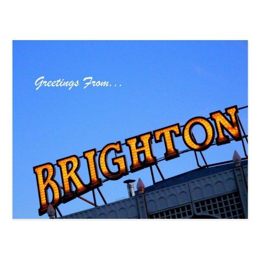 Grüße von BRIGHTON Postkarte