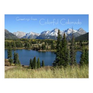 Grüße von bunter Colorado-Postkarte Postkarte