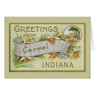 Grüße von Carmel Indiana-TAN Grenze Karte