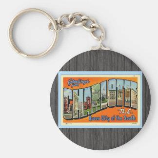 Grüße von Charlotte N.C., Vintag Schlüsselanhänger