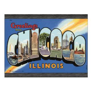 Grüße von Chicago Illinois, Vintag Postkarte