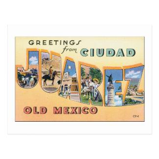 Grüße von Ciudad Juarez altes Mexiko Postkarte
