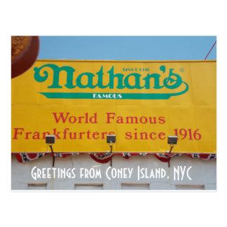 Grüße von Coney Island, NYC 1 Postkarte