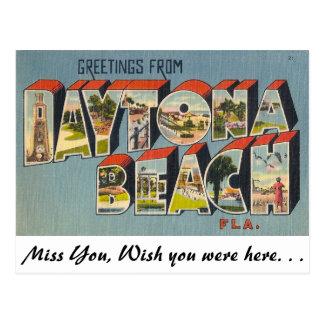 Grüße von Daytona Beach, Florida Postkarte
