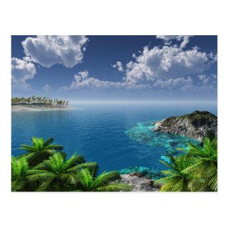 Grüße von den Inseln Postkarte