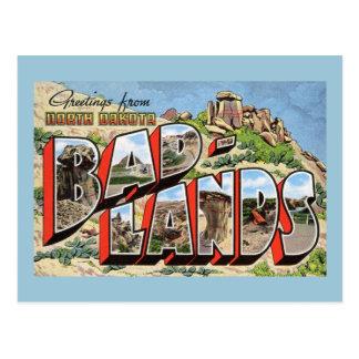 Grüße von den Ödländern, North Dakota Vintag Postkarte