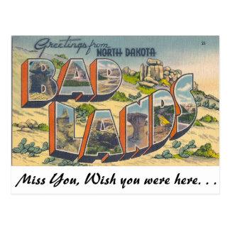 Grüße von den schlechten Ländern, North Dakota Postkarte