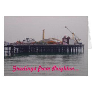 Grüße von der Brighton-Gruß-Karte Karte