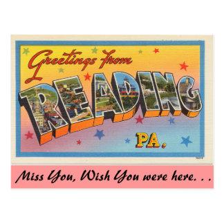 Grüße von der Lesung Postkarte