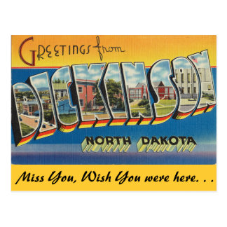 Grüße von Dickinson Postkarte