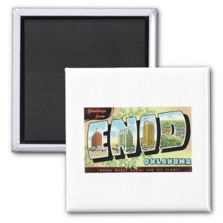 Grüße von Enid, Oklahoma Magnete