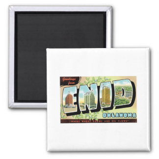 Grüße von Enid, Oklahoma Quadratischer Magnet