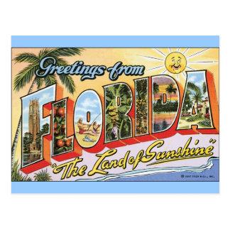 Grüße von Florida - Vintage Reise Postkarte