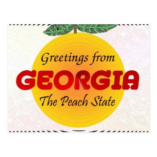 Grüße von Georgia Postkarte