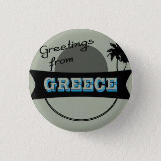 Grüße von Griechenland-Abzeichen Runder Button 2,5 Cm