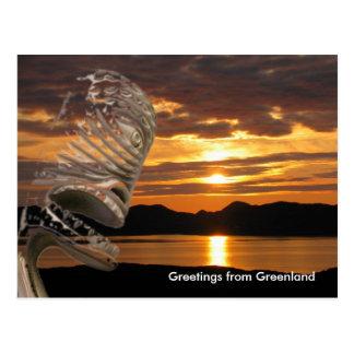 Grüße von Grönland 20 Postkarte