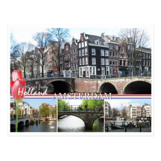 Grüße von Holland- - Amsterdam-Postkarte Postkarten