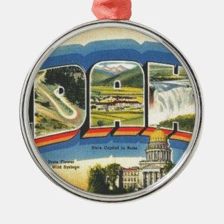 Grüße von Idaho Silbernes Ornament