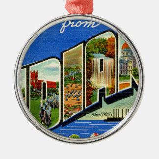 Grüße von Indiana Silbernes Ornament