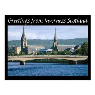 Grüße von Inverness Schottland Postkarte