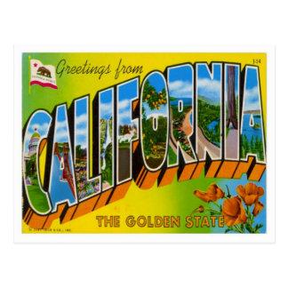 Grüße von Kalifornien Postkarte