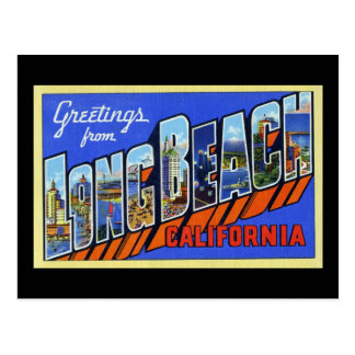 Grüße von Long Beach Kalifornien Postkarte