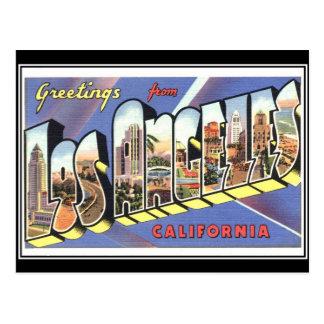 Grüße von Los Angeles Kalifornien Vintag Postkarte