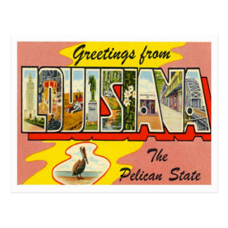 Grüße von Louisiana Postkarte