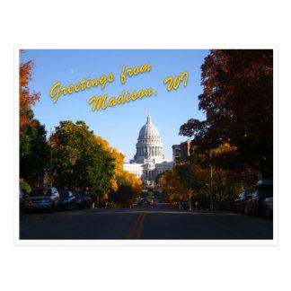 Grüße von Madison, WI Postkarte