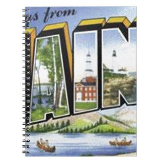 Grüße von Maine Notizblock